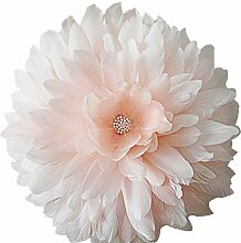 ooky Feder Perlen Kristall Lotus Überwurf Kissen Bett Sofa Hochzeit Deko Light Pink A