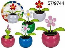 OOTB 96x Bewegliche Blume im Kunststoff-Topf mit