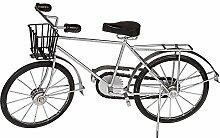 ootb Deko-Holz/Metall-Fahrrad mit Korb,