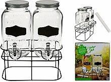 OOTB Doppel-Glas-Getränkespender, Einmachglas mit