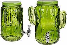 OOTB Getränkespender aus Glas, Kaktusfarben