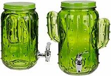 OOTB Glas-Getränkespender, Grün, 26 cm