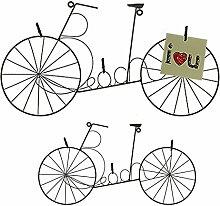 OOTB Metall-Fotohalter, Fahrrad, Grau, 44.5 x 24.5