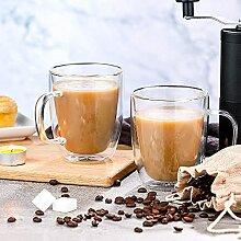OOTD Kaffeebecher aus Glas, doppelwandig,