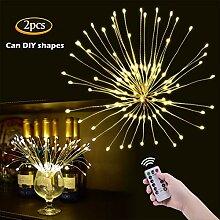 OOTOO 2Stücke LED Lichterkette Feuerwerk Hängend