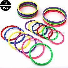 OOTSR 24 stücke Kunststoff Toss Ringe Set für