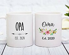 Opa and Oma Est 2020 Tassen-Set Opa und Oma