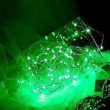 opfashion + 10FT 30Mini Micro LEDs Multi Farben availalbe Starry Tauchpumpe Lichterkette kupfer LED Lichtern Saiten AA Batterie betrieben Ultra Thin String Draht Bedient, plastik, grün, 2 Sets Green