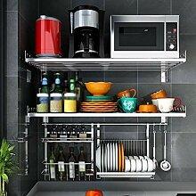 Ophihdlhd Küche Mikrowelle Rack Haushalt Wand