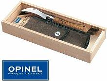 opinel-coffret Messer Hat Pilze Opinel N ° 8–Griff Eiche + Schutzhülle Leder