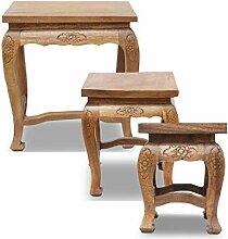 Opium Hocker Holzhocker Beistelltisch Nachttisch