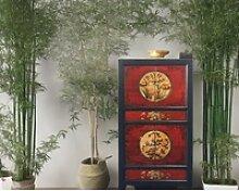 OPIUM OUTLET Kleiderschrank Asia Vintage Schrank