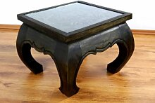 Opiumtisch mit Schnitzerei 50cmx50cm,