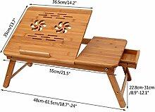 Oplon Laptoptisch Klappbarer für Sofa oder Bett,