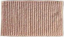 Opportunity 52G131703 Badvorleger, Baumwolle, 80 x 50 x 1 cm rosa