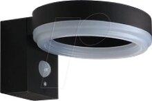 OPT 9340 - LED-Solarleuchte, Wandleuchte, schwarz,