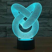 Optical Illusion 3D Love Knot - Liebesknoten Lampe