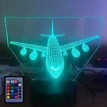 Optical Illusions 3D Flugzeug Nachtlicht LED
