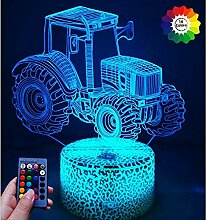 Optical Illusions 3D Traktor Lampen Fernbedienung