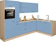 OPTIFIT Winkelküche Elga Einheitsgröße blau