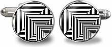 Optische Illusion Pop Art Glas Cabochon Business