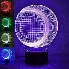 Optische Täuschung 3D Baseball Nacht Licht 7
