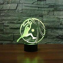 Optische Täuschung 3D Basketball Nacht Licht 7