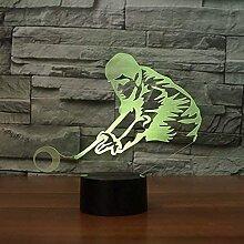 Optische Täuschung 3D Billard Nacht Licht 16