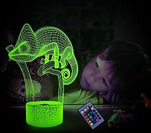 Optische Täuschung 3D Chamäleon Nacht Licht 16