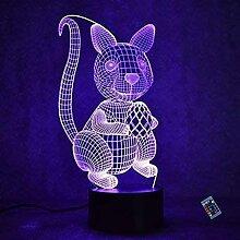 Optische Täuschung 3D Eichhörnchen Nacht Licht