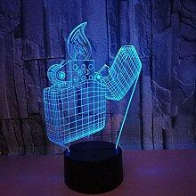 Optische Täuschung 3D Feuerzeug Nacht Licht 7