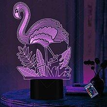 Optische Täuschung 3D Flamingo Nacht Licht 16