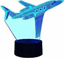 Optische Täuschung 3D Flugzeug Nacht Licht 7