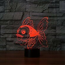 Optische Täuschung 3D Goldfisch Nacht Licht 7
