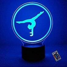 Optische Täuschung 3D Gymnastik Nacht Licht 16