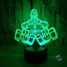 Optische Täuschung 3D Hantel Nacht Licht 16