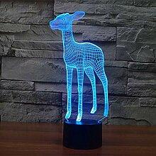 Optische Täuschung 3D Hirsch Nacht Licht 7 Farben