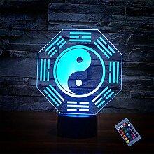 Optische Täuschung 3D Klatsch Nacht Licht 16