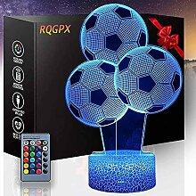 Optische Täuschung 3D-Lampe Fußball E 16 Farben