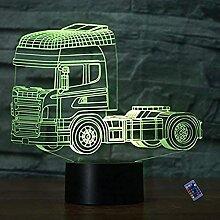 Optische Täuschung 3D LKW Nacht Licht 16 Farben