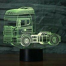 Optische Täuschung 3D LKW Nacht Licht 7 Farben