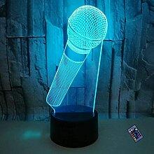 Optische Täuschung 3D Mikrofon Nacht Licht 16
