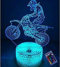 Optische Täuschung 3D Motorrad Nacht Licht 16
