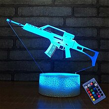 Optische Täuschung 3D Pistole Nacht Licht 16