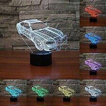Optische Täuschung 3D Polizei Auto Nacht Licht 7