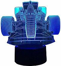 Optische Täuschung 3D Rennauto Nacht Licht 7