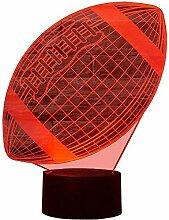 Optische Täuschung 3D Rugby Nacht Licht 7 Farben