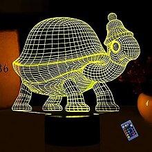 Optische Täuschung 3D Schildkröte Nacht Licht 16
