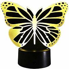 Optische Täuschung 3D Schmetterling Nacht Licht 7
