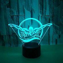 Optische Täuschung 3D Schwimmen Nacht Licht 7